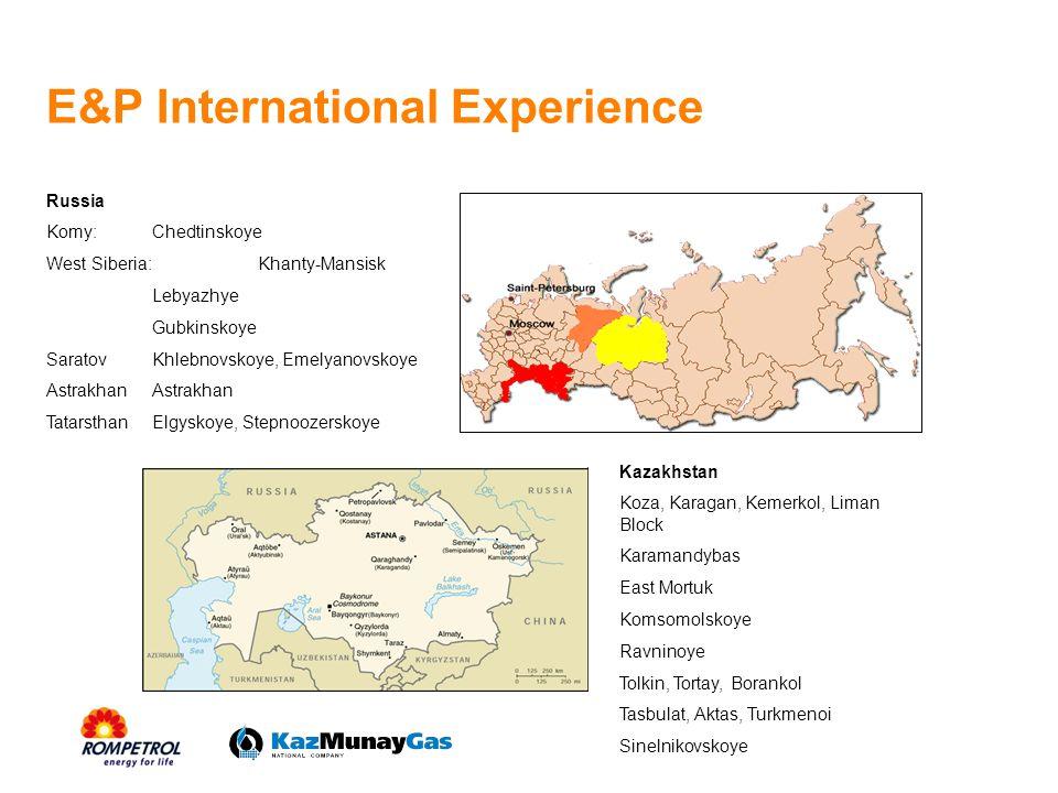 E&P International Experience