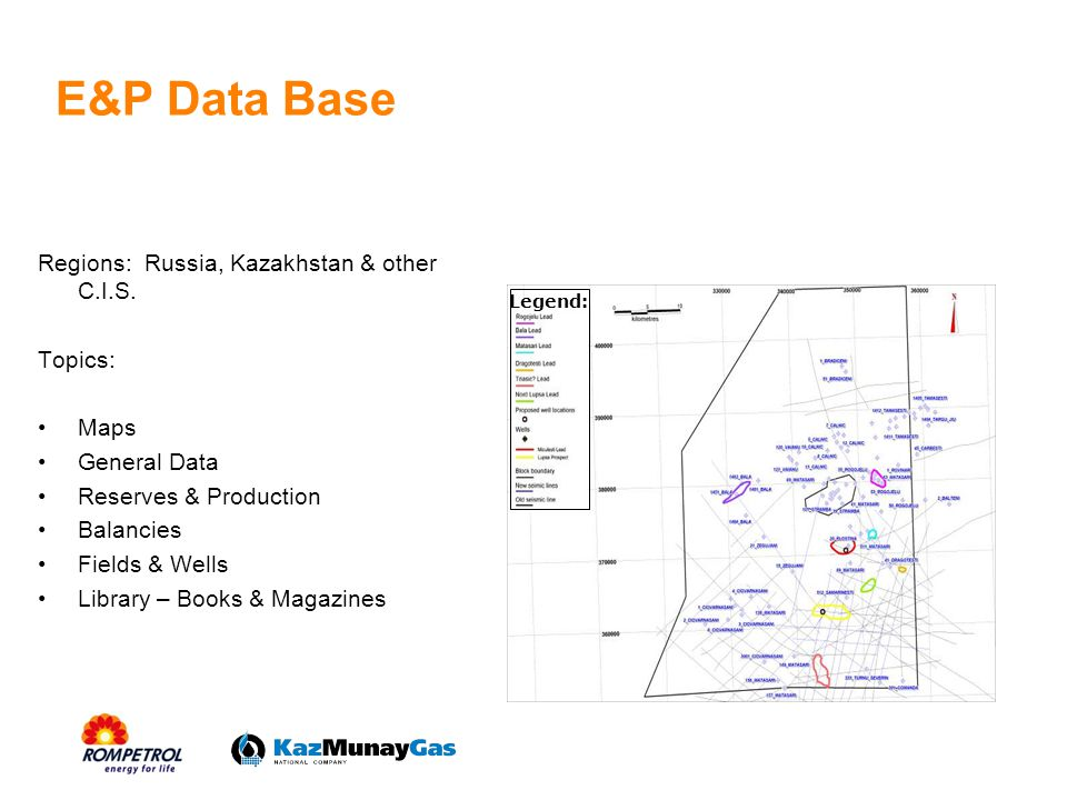 E&P Data Base Regions: Russia, Kazakhstan & other C.I.S. Topics: Maps