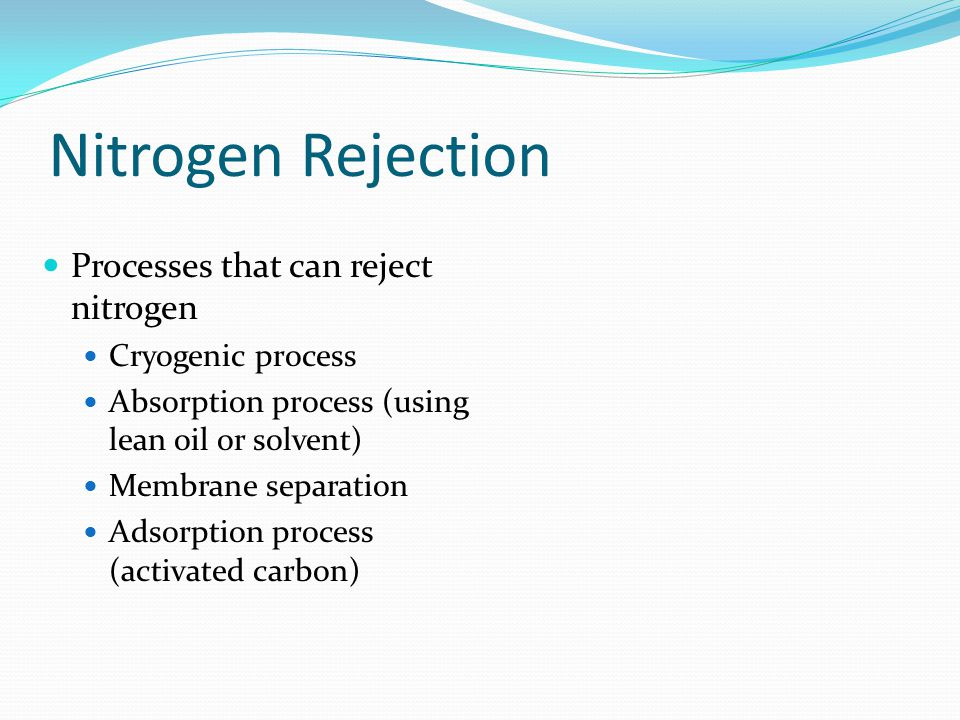 Nitrogen Rejection Processes that can reject nitrogen