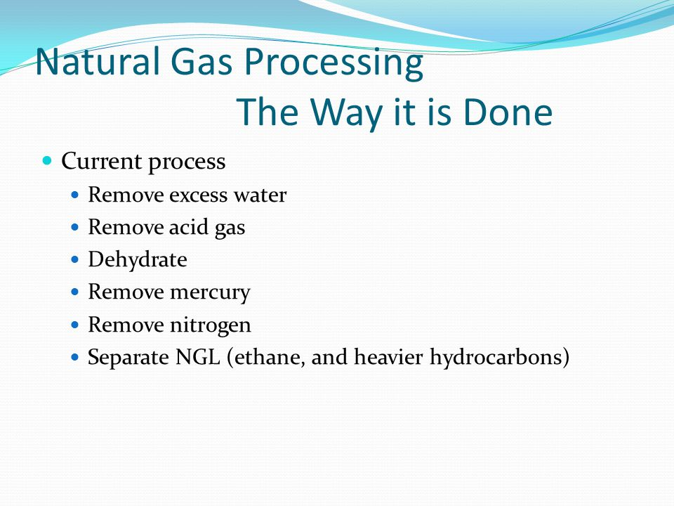 Natural Gas Processing The Way it is Done