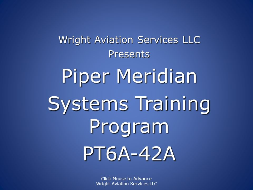 Systems Training Program PT6A-42A