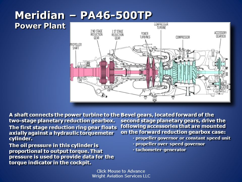 Meridian – PA46-500TP Power Plant