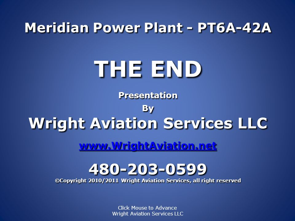 THE END Wright Aviation Services LLC 480-203-0599