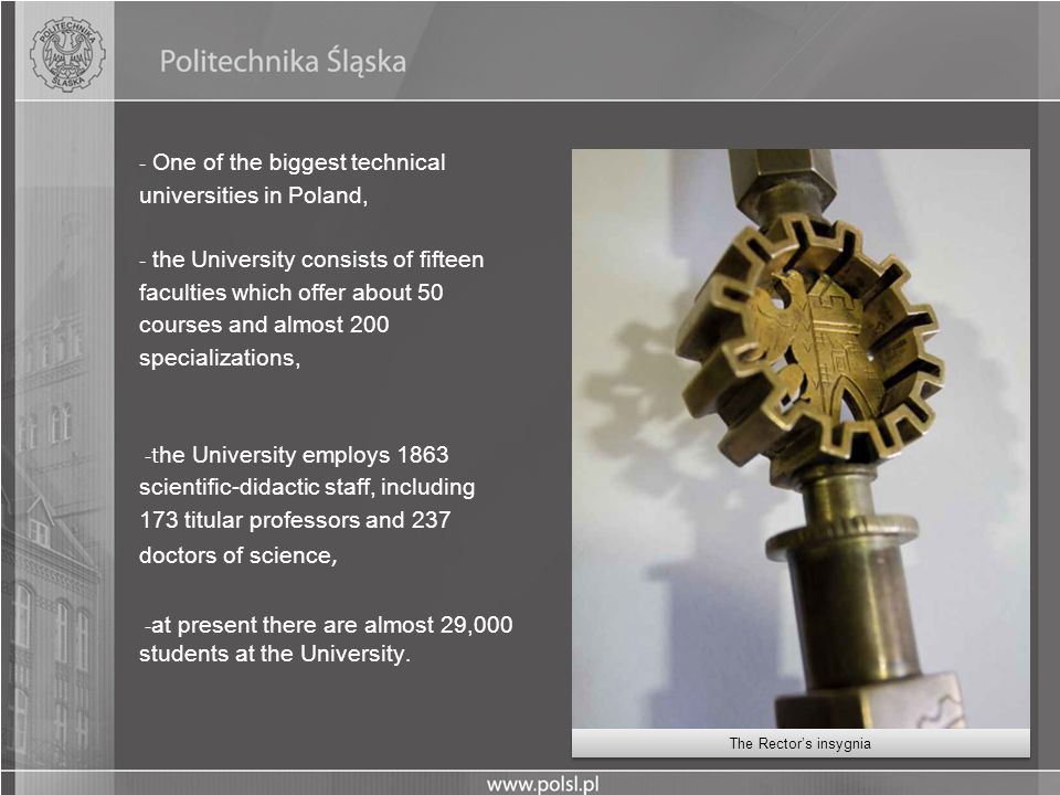 One of the biggest technical universities in Poland,