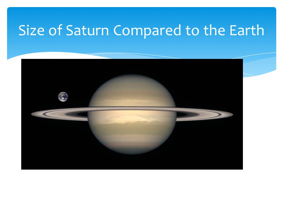 Size of Saturn Compared to the Earth
