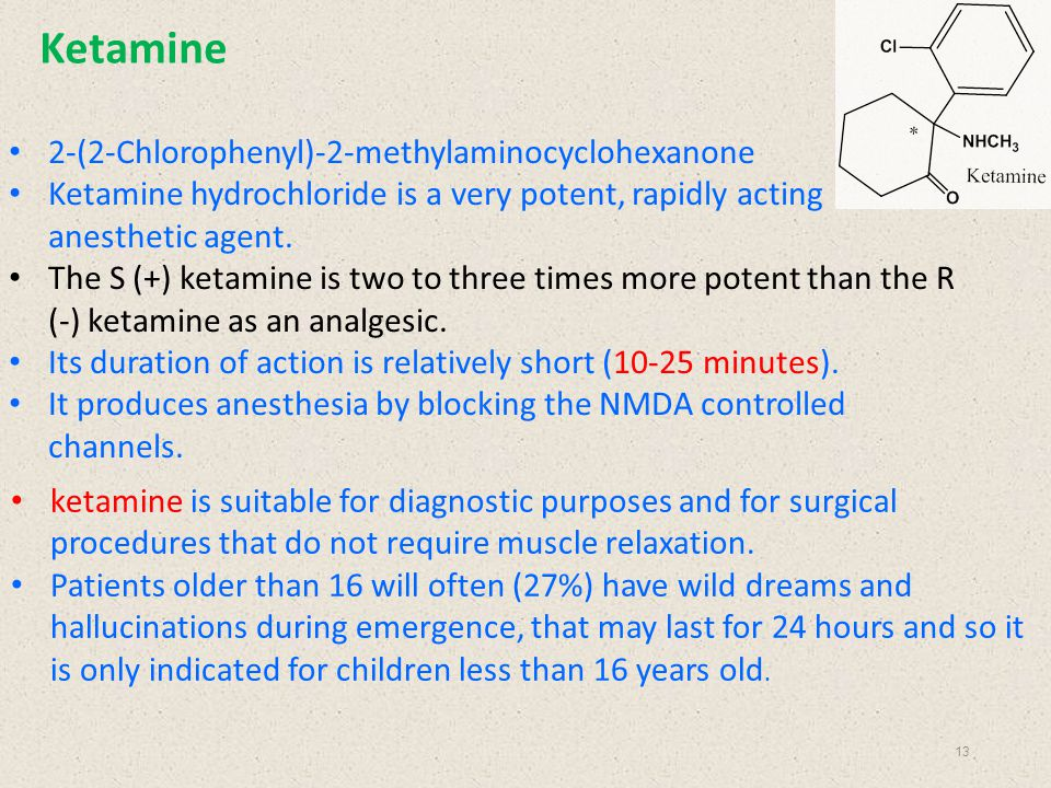 Ketamine 2-(2-Chlorophenyl)-2-methylaminocyclohexanone