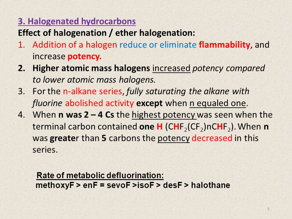 3. Halogenated hydrocarbons
