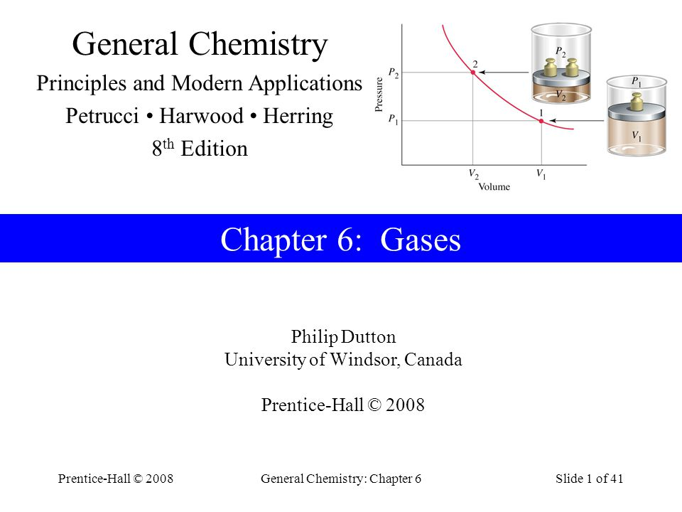 General Chemistry Chapter 6: Gases Principles and Modern Applications