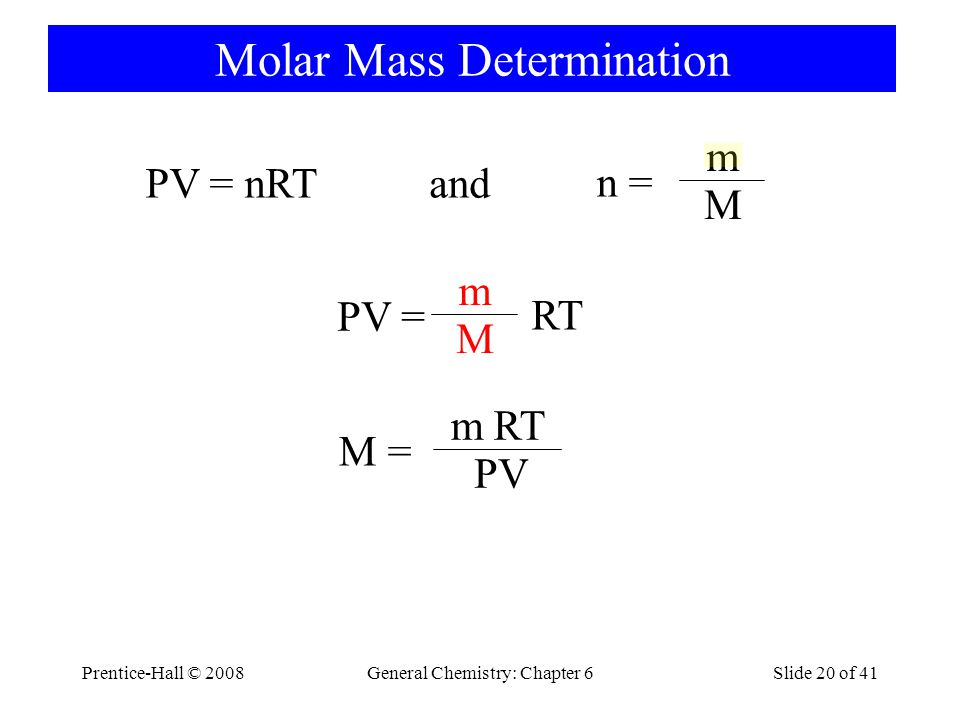 Molar Mass Determination