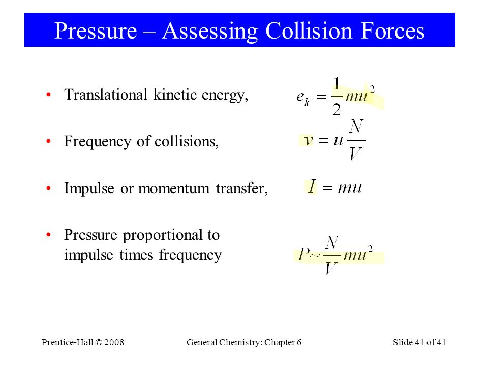 Pressure – Assessing Collision Forces