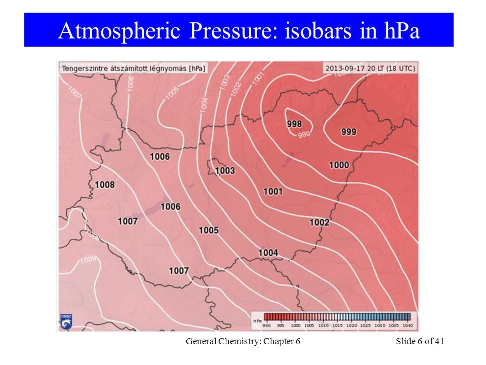 Atmospheric Pressure: isobars in hPa