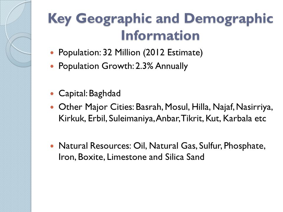 Key Geographic and Demographic Information