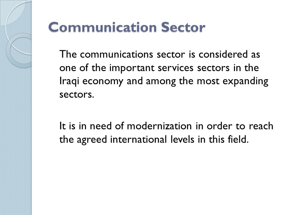 Communication Sector
