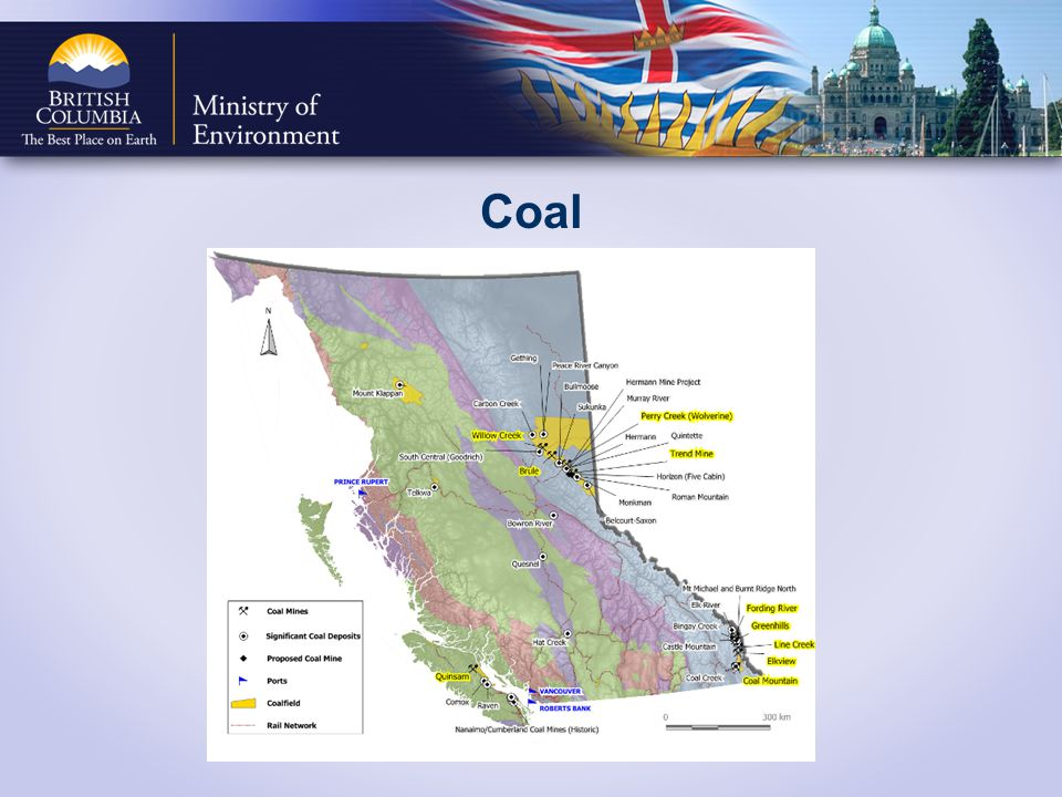 Coal Export Markets: 40% of the coal produced in Canada is exported and BC is Canada s largest exporter.