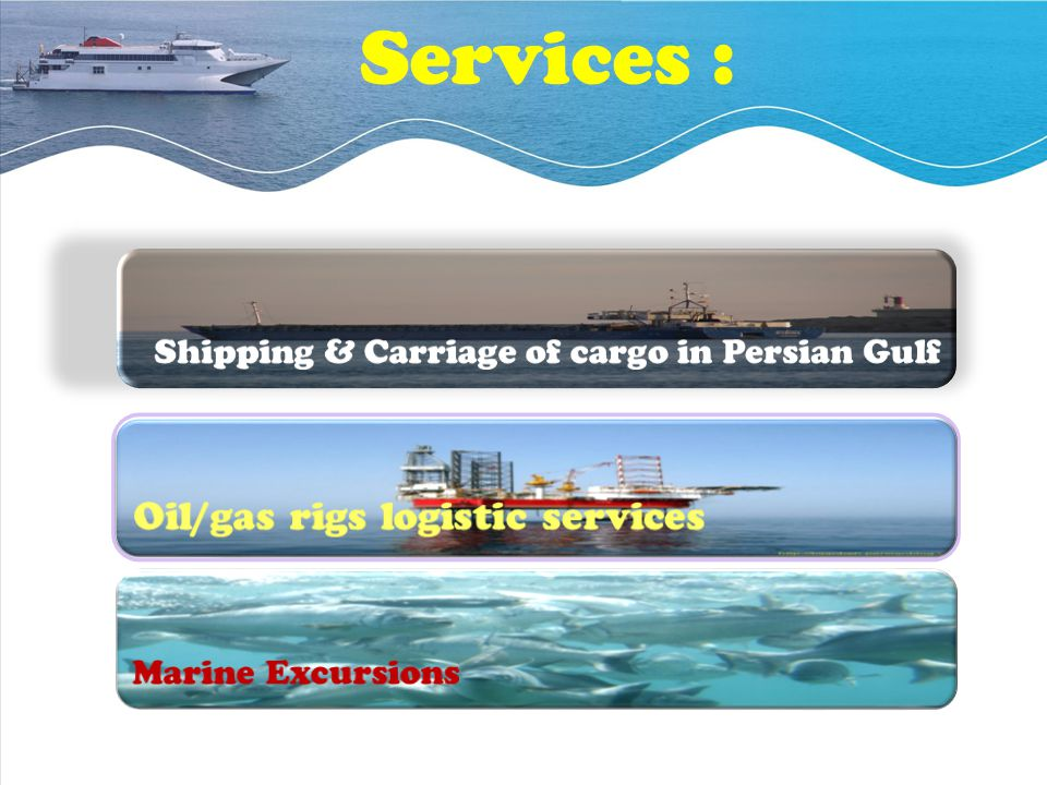 Services : Oil/gas rigs logistic services