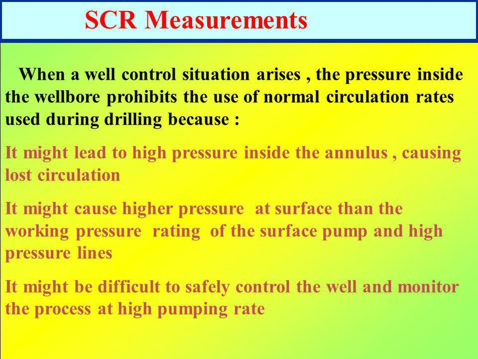 SCR Measurements