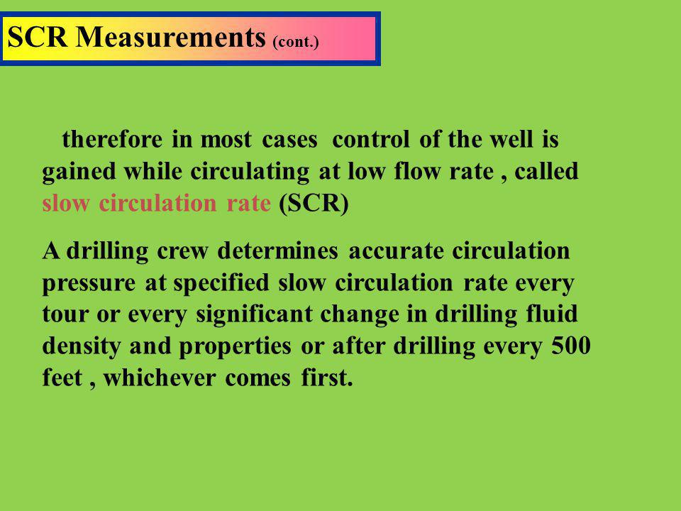 SCR Measurements (cont.)