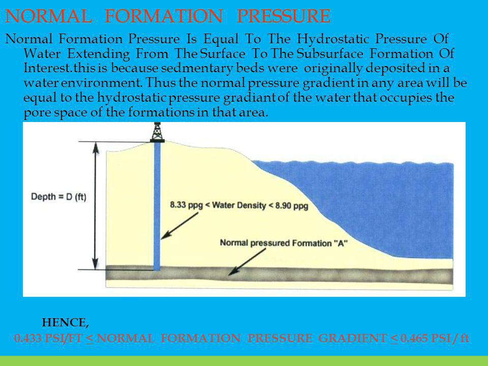 NORMAL FORMATION PRESSURE