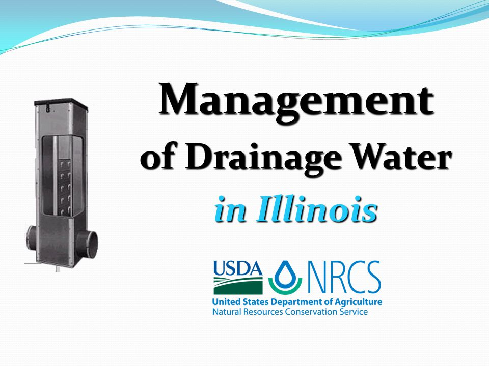 Management of Drainage Water in Illinois