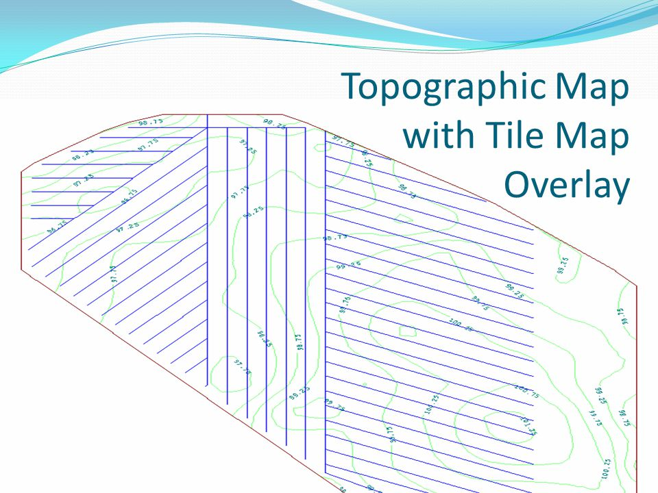 Topographic Map with Tile Map Overlay