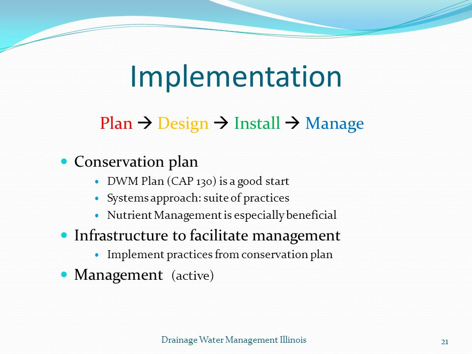 Plan  Design  Install  Manage