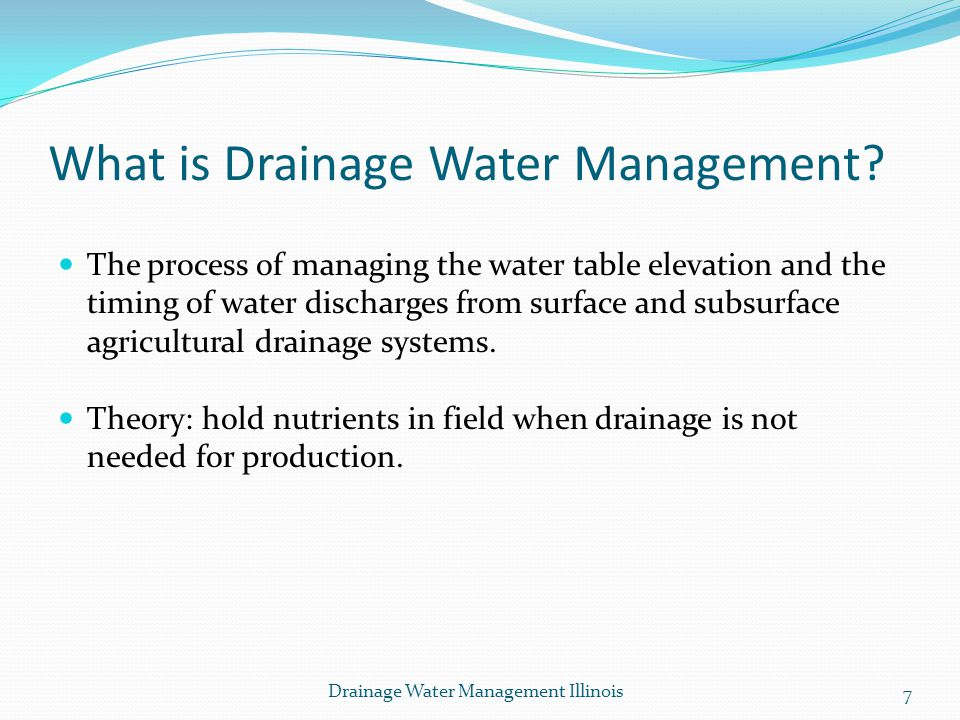 What is Drainage Water Management