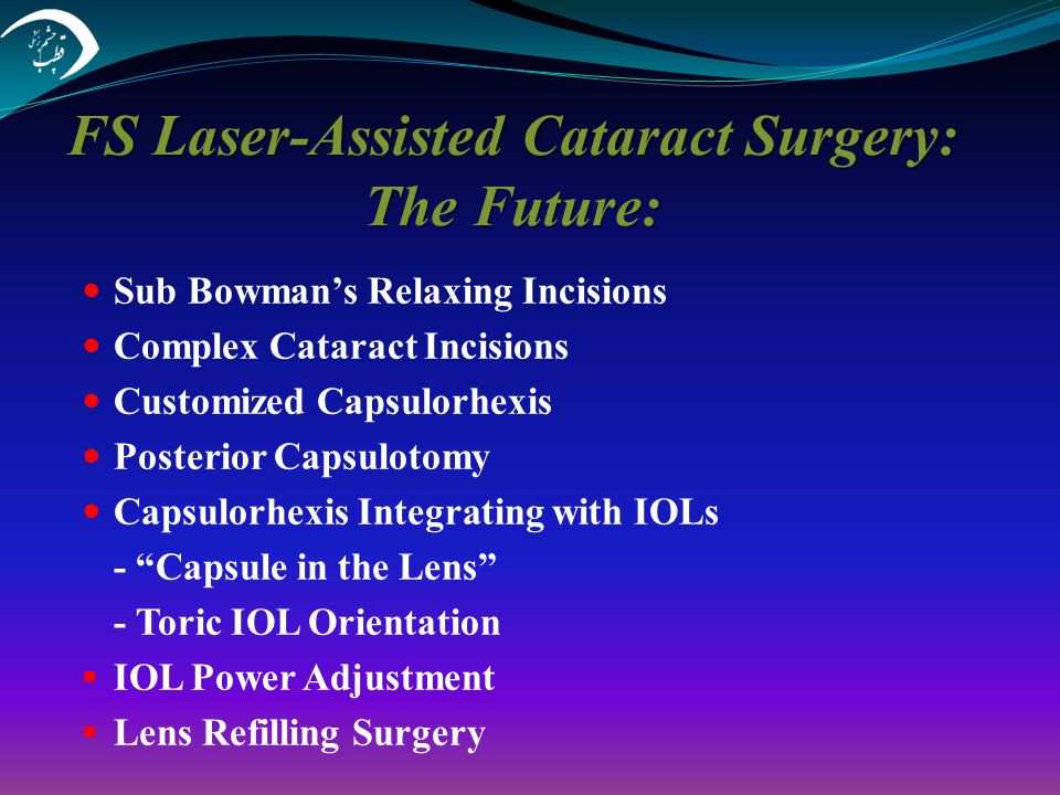 FS Laser-Assisted Cataract Surgery: The Future: