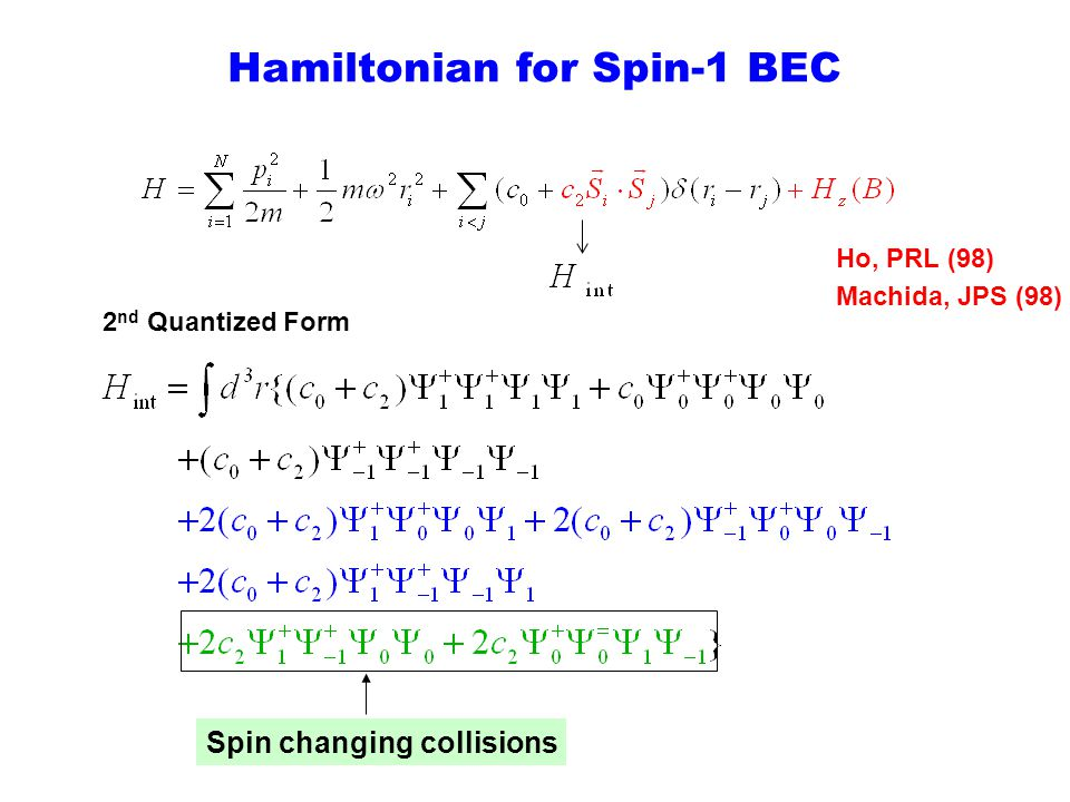 Hamiltonian for Spin-1 BEC