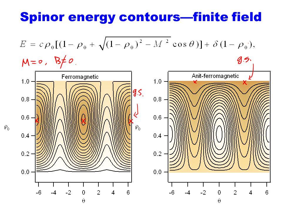 Spinor energy contours—finite field