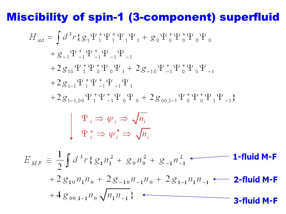 Miscibility of spin-1 (3-component) superfluid