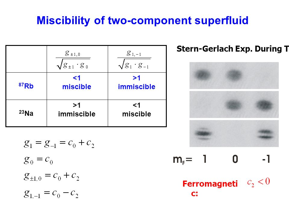 Miscibility of two-component superfluid