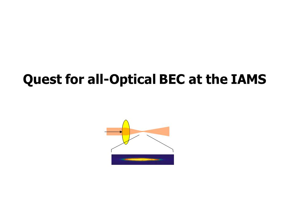 Quest for all-Optical BEC at the IAMS
