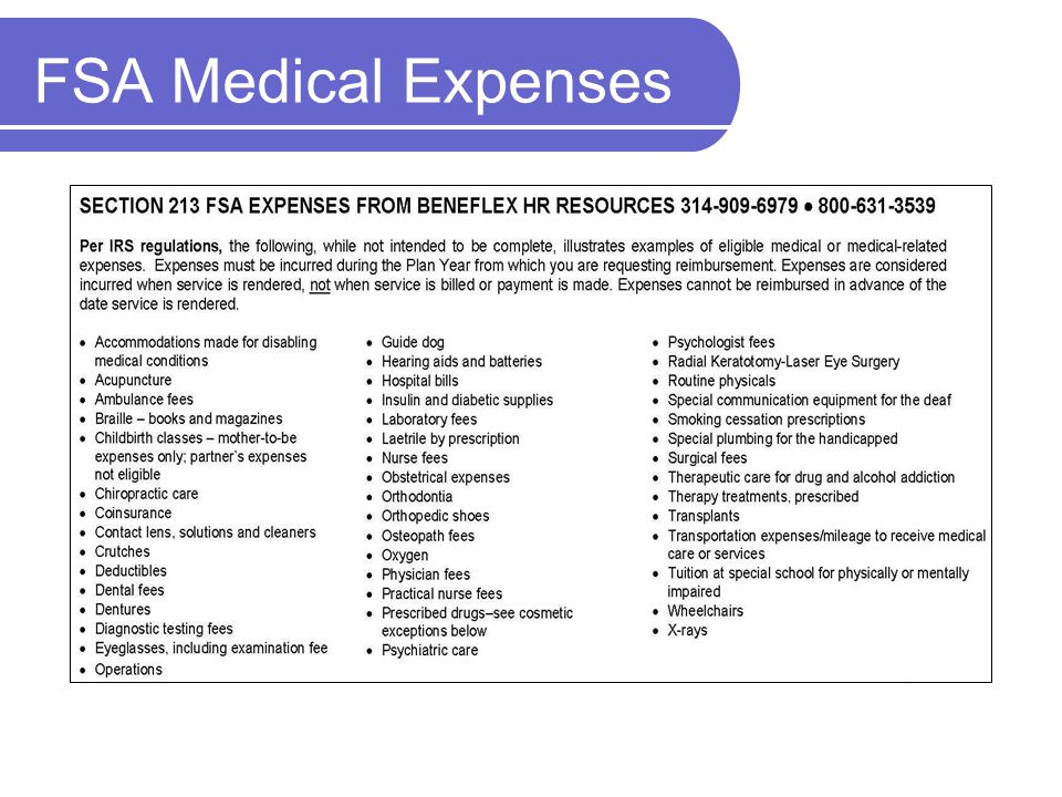 FSA Medical Expenses