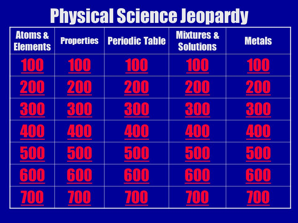 Physical science jeopardy ppt video online download physical science jeopardy urtaz Image collections