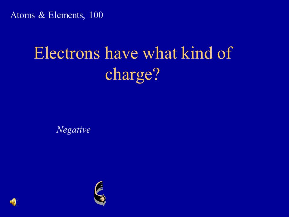 Electrons have what kind of charge
