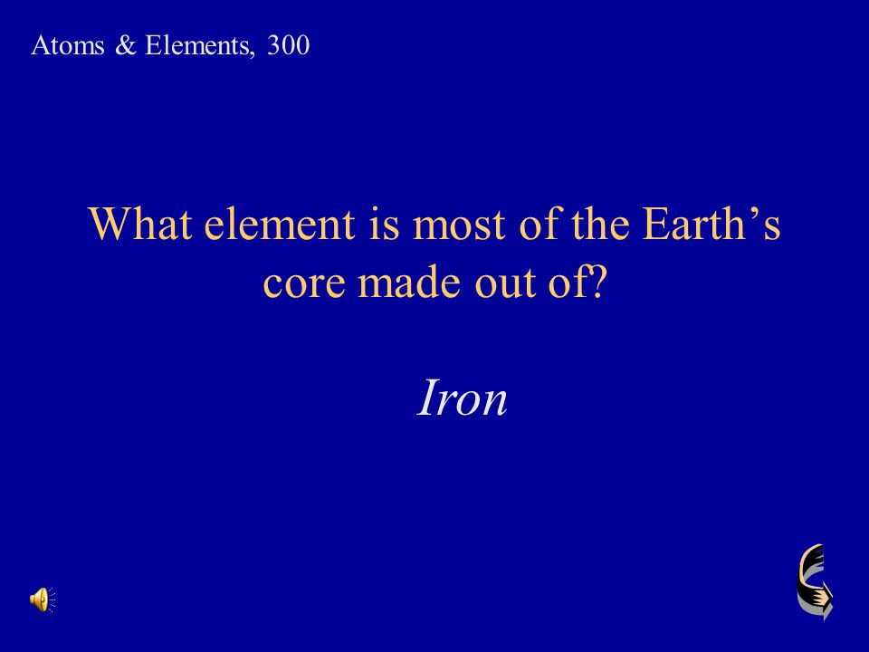 What element is most of the Earth's core made out of