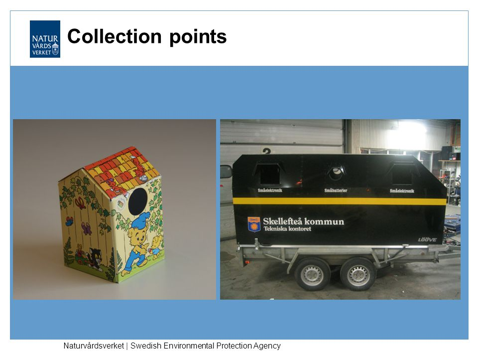 Collection points Naturvårdsverket | Swedish Environmental Protection Agency