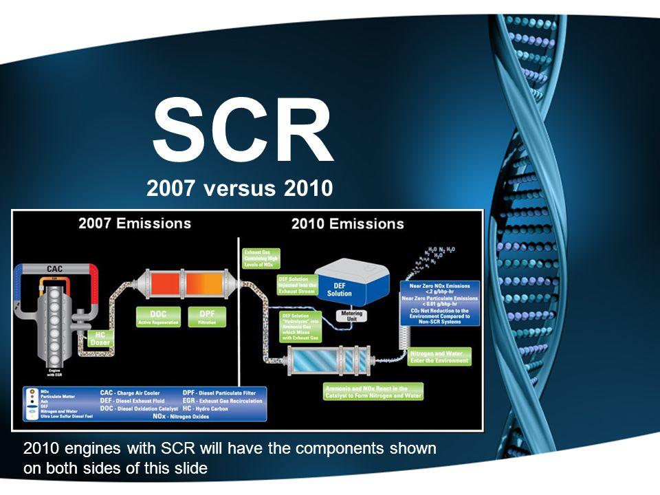 SCR 2007 versus 2010.
