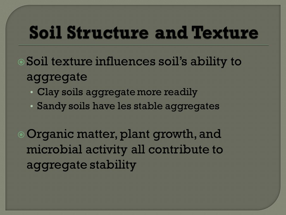 Soil Structure and Texture