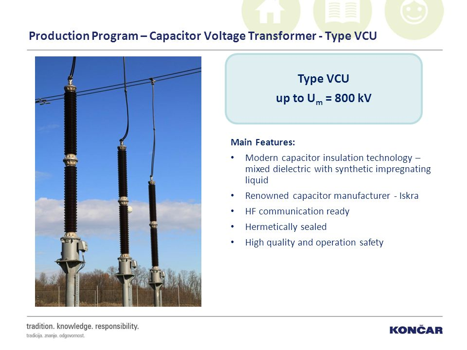 Production Program – Capacitor Voltage Transformer - Type VCU