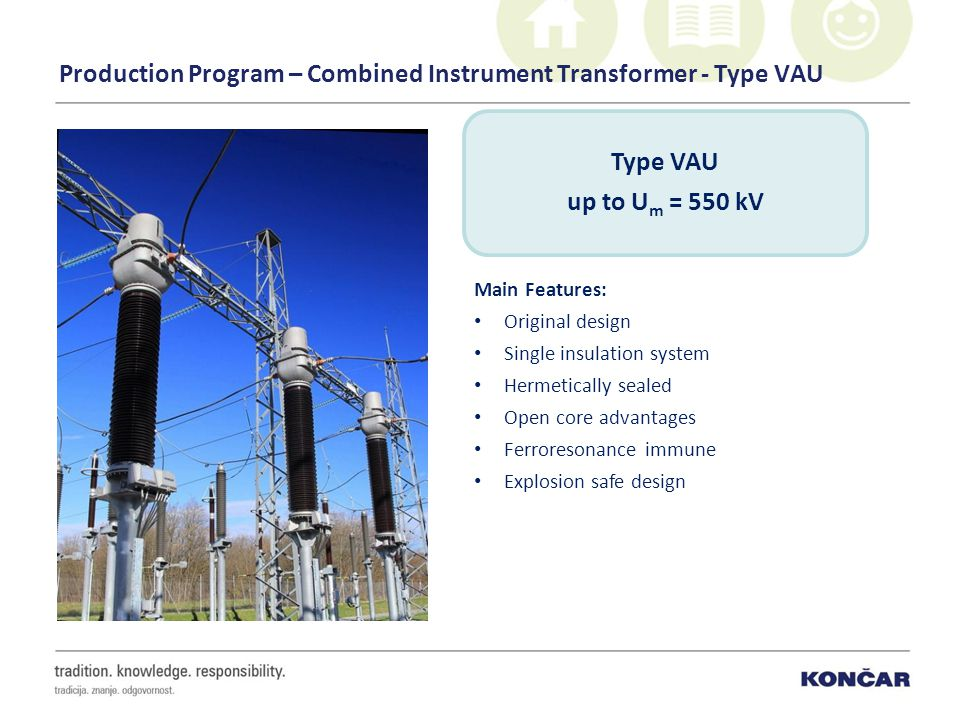 Production Program – Combined Instrument Transformer - Type VAU