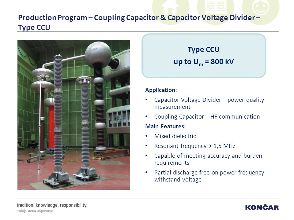 Production Program – Coupling Capacitor & Capacitor Voltage Divider – Type CCU