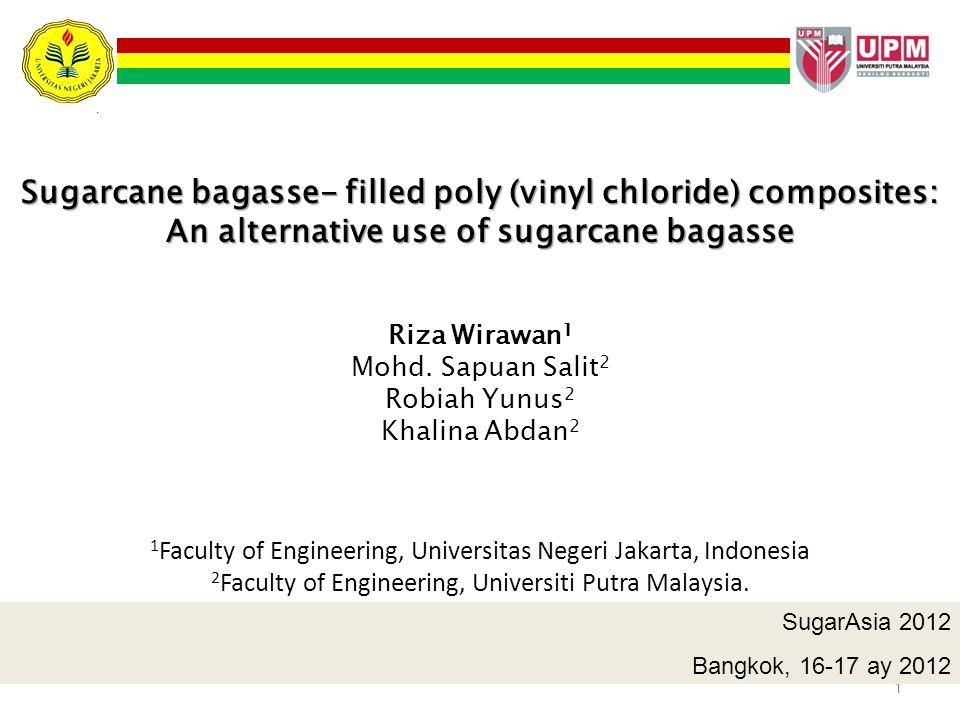 Sugarcane bagasse- filled poly (vinyl chloride) composites: