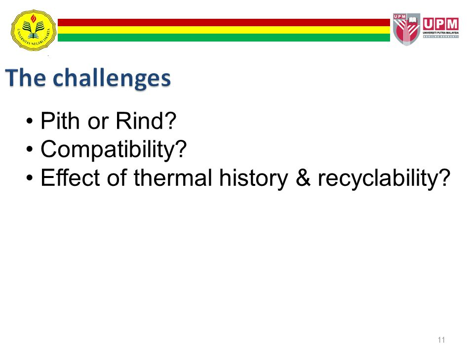 The challenges Pith or Rind Compatibility