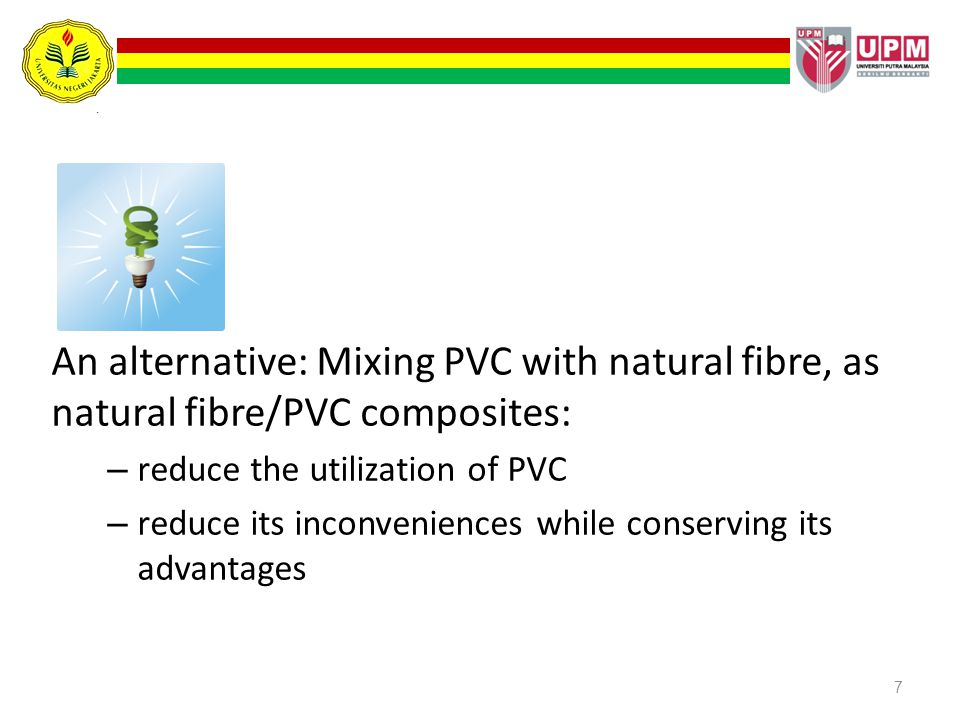 An alternative: Mixing PVC with natural fibre, as natural fibre/PVC composites: