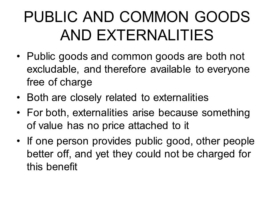 Externalities and Public Good (With Diagram)