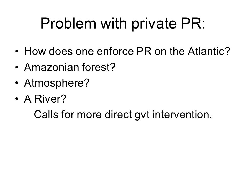 Problem with private PR: