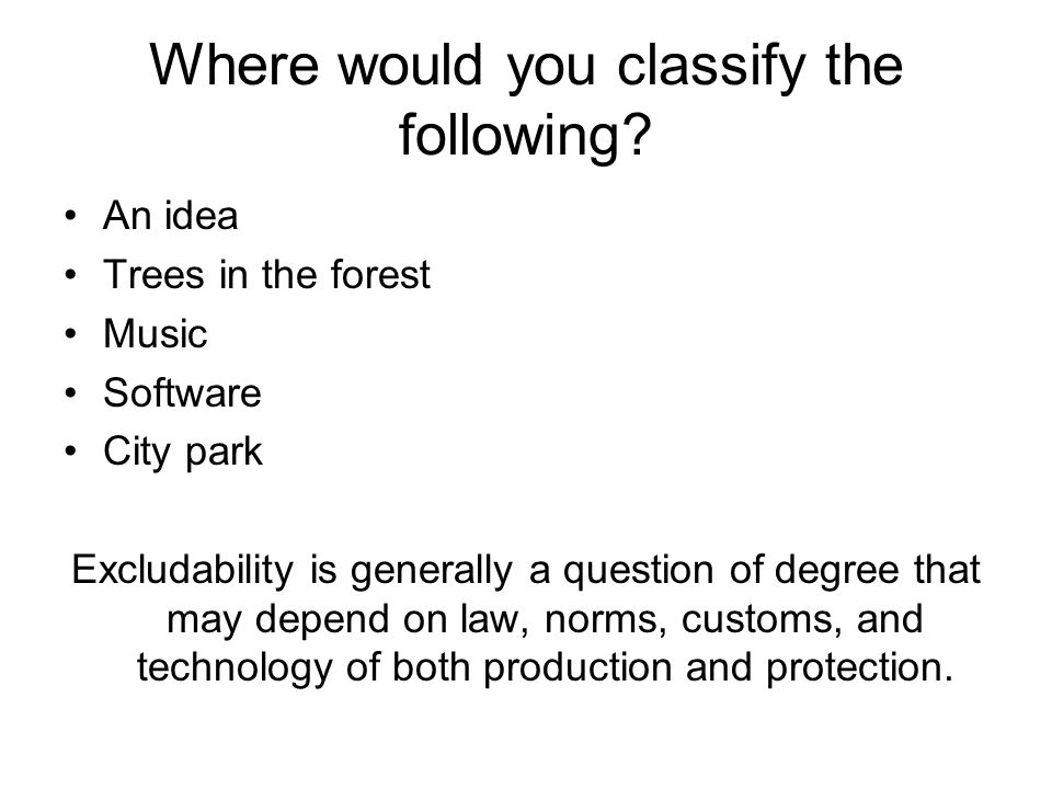 Where would you classify the following