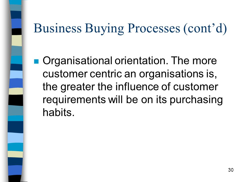 Business Buying Processes (cont'd)
