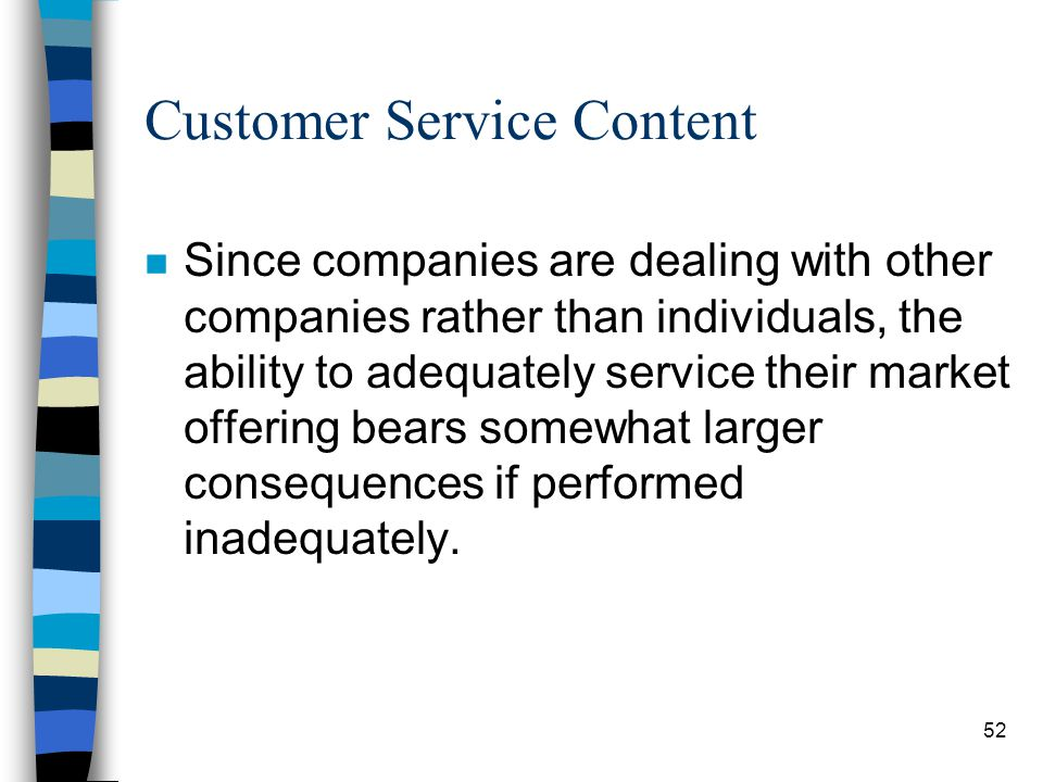 Customer Service Content